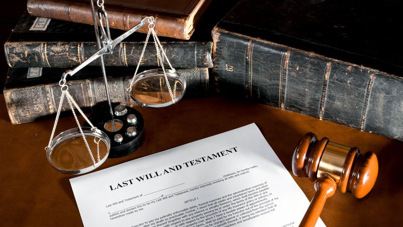 Last will and testament documnet